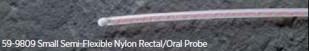 Small Semi-Flexible Nylon Rectal/Oral Thermistor Probe