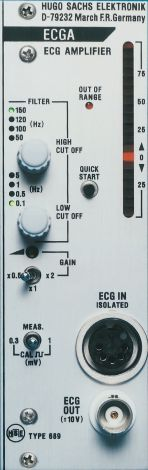 PLUGSYS Electrocardiogram (ECG) Amplifier Module (ECGA), Electrocardiogram Amplifier Module