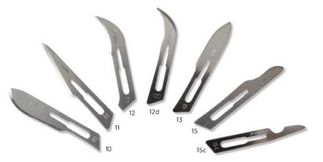 Scalpel blades for No. 3 and No. 7 Handles