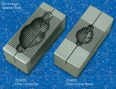 Stainless Steel Brain Matrices for Small Rodents