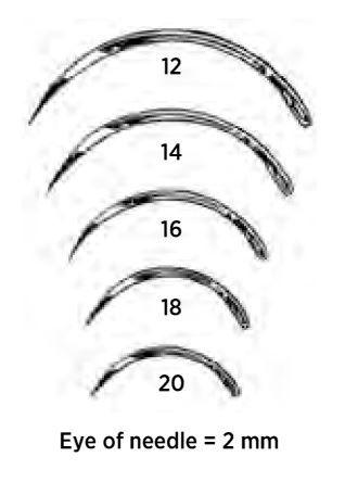 Regular Surgeon's Suture Needles, 3/8 Circle, Cutting Edge